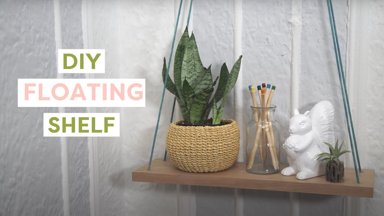 DIY Hanging Rope Shelf- HGTV Handmade - YouTube