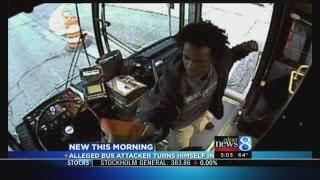 Bus driver attack suspect surrenders