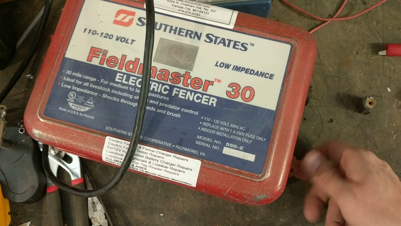 hight resolution of electric fencer repair fieldmaster 30