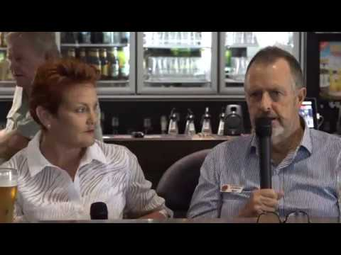 Pauline Hanson's Longreach Livestream from the Bird Cage Hotel in Queensland