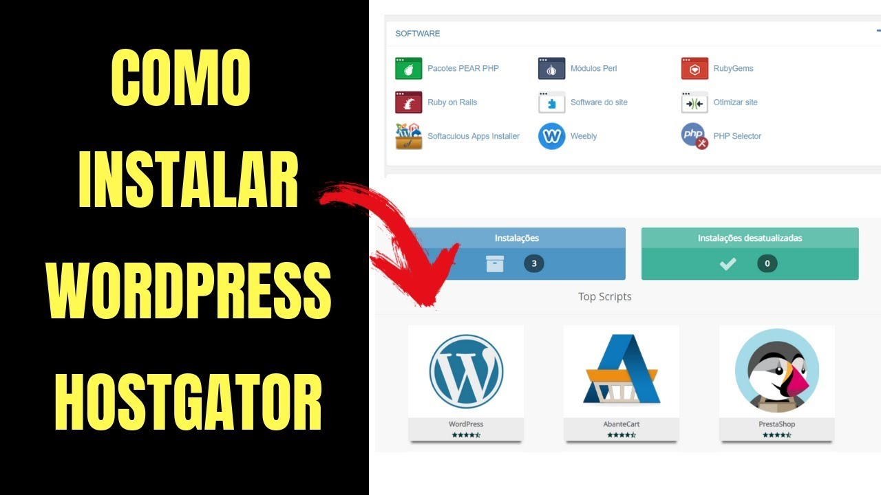 COMO INSTALAR O WORDPRESS NO CPANEL DA HOSTGATOR (2019)