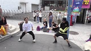 원어스(oneus) 태양이 떨어진다 (twilight) -   홍대 외국인 댄스팀  -  kpop cover dance 홍대 걷고싶은거리 버스킹 2019.9.17.HNH TV.