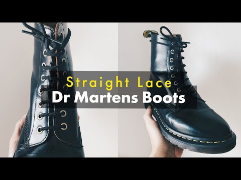 How To Straight Lace Dr Martens Boots! - (Ladder Lace, Bar Lace, Military Lace)