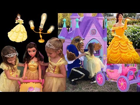 Disney Princess Party Belle Beauty and the Beast Castle Brooke and Azlynn Show
