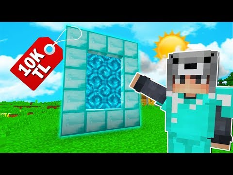 ZENGİN'in 10.000 TL'lik ELMAS PORTALI BULUNDU! 😱 - Minecraft