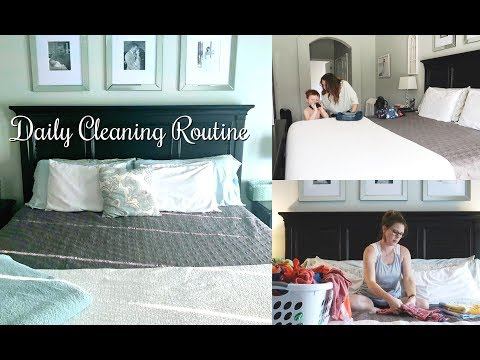 DAILY CLEANING ROUTINE // SAHM CLEANING // EXTREME CLEANING MOTIVATION