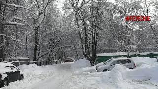 Снегопад в Москве 2018