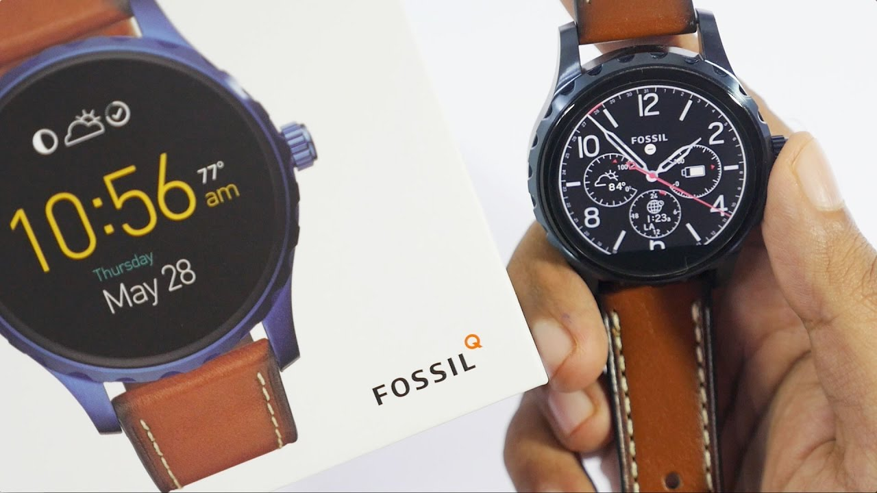 Fossil Q Marshal Smartwatch Unboxing   Overview - YouTube 2b3c62c86e2
