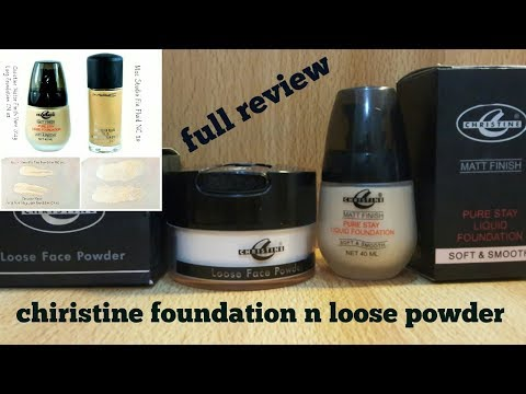 Christine foundation n loose powder review/best pakistani products /full review in urdu /hindi