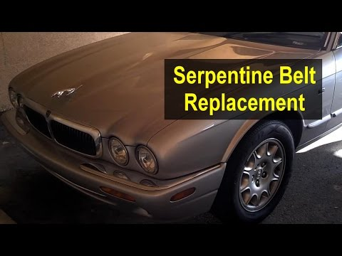 Serpentine belt replacement, 2003 Jaguar XJ8 4.0 L V8 – VOTD