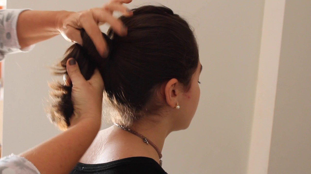 Technique de chignon - YouTube