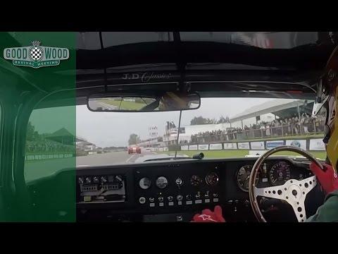 Jaguar E-Type destroys AC Cobras at Goodwood Revival
