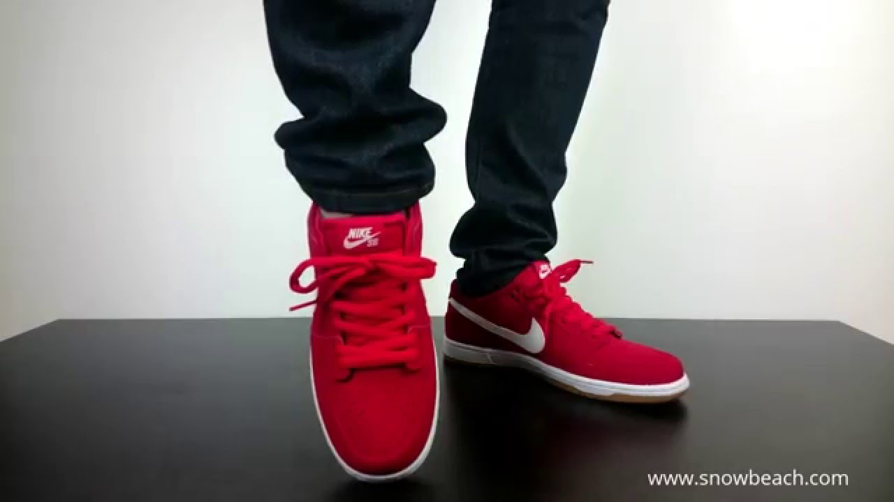 NIKE SB DUNK LOW PRO ISHOD WAIR university red white gum light brown 819674  612 - YouTube