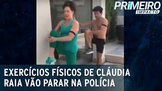 Atriz Cláudia Raia é acusada de exercício ilegal por vídeos fitness   Primeiro Impacto (24/11/20)
