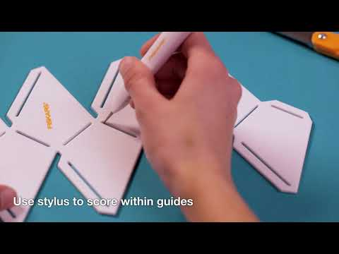 How to Use Fiskars® Paper Gem Templates