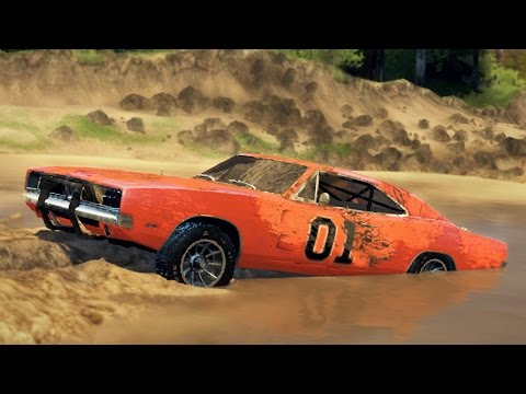 GENERAL LEE CHARGER! Off-Road Test! Mudding & Hill Climbing! (SpinTires)