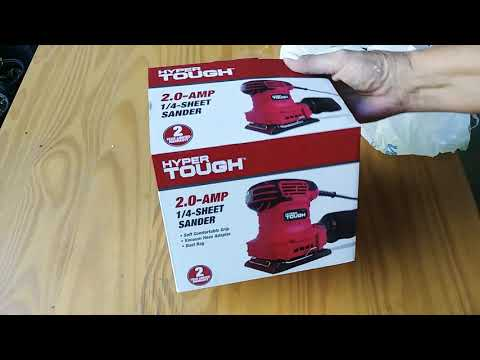 Hyper Tough 1/4 Sheet Sander Under 20.00 Walmart Unboxing And My Review