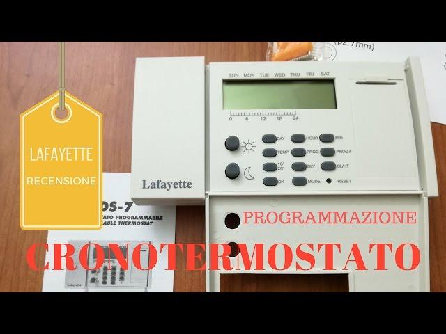 Cronotermostato Cds 7 Lafayette Programmazione E