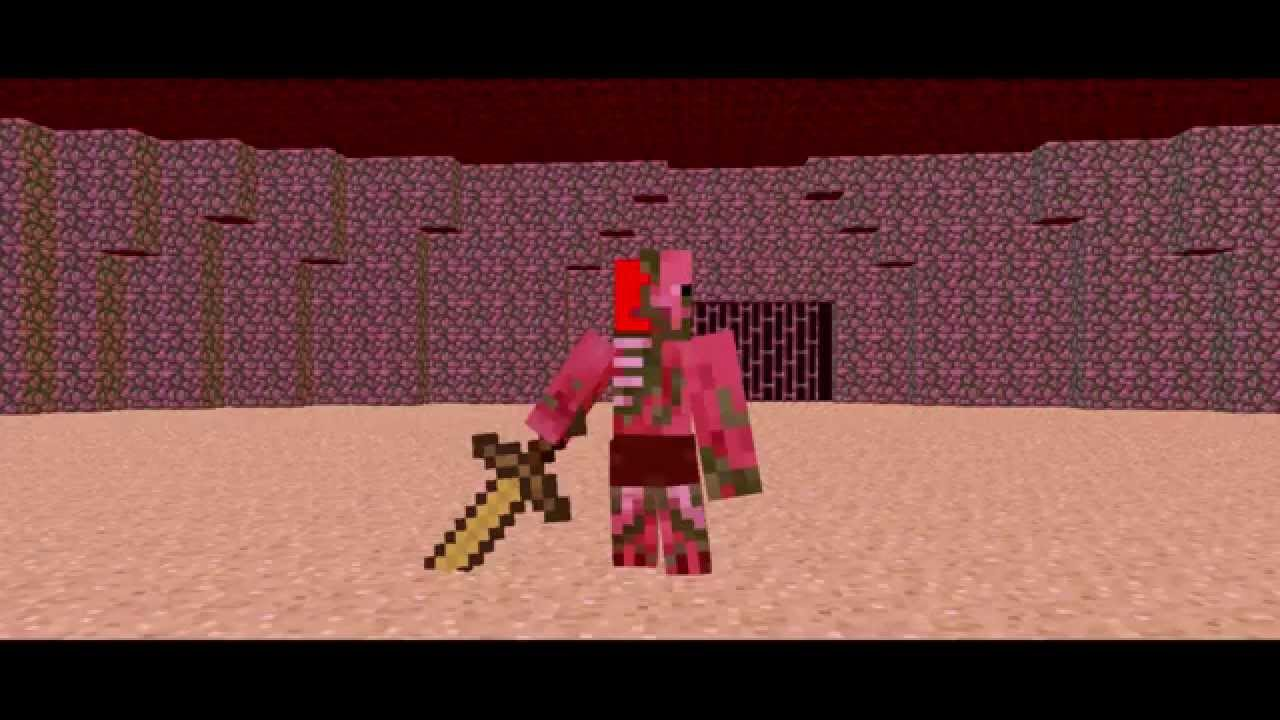 The Arena - Zombie Pigman Vs Wither Skeleton - Minecraft Fight