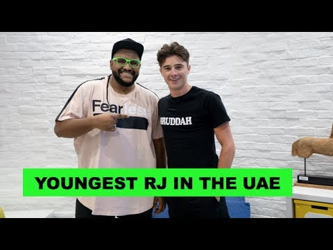 YOUNGEST RJ IN THE UAE - JACOB CUMMINGS | Hami Vlogs | #MEYE2019