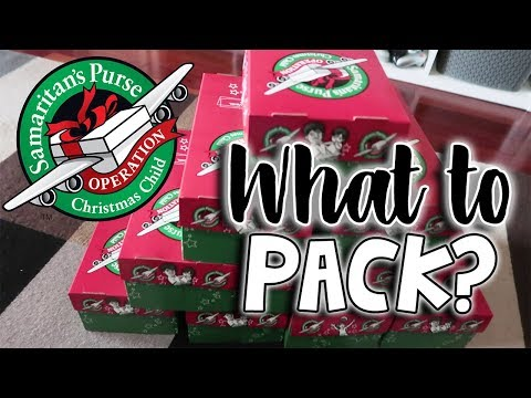 Operation Christmas Child - PACKING IDEAS