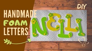 Girly name decoration I super simple, easy foam bedroom decor I for beginners