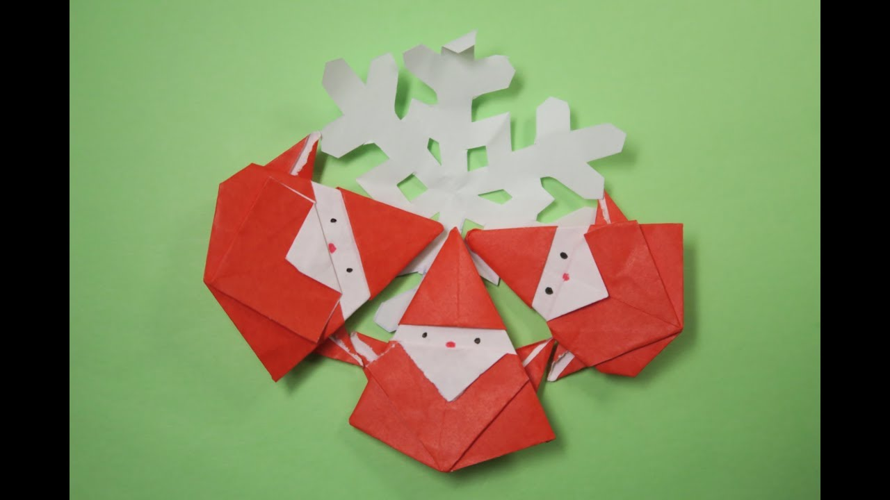 How To Make A Origami Santa Claus Hat
