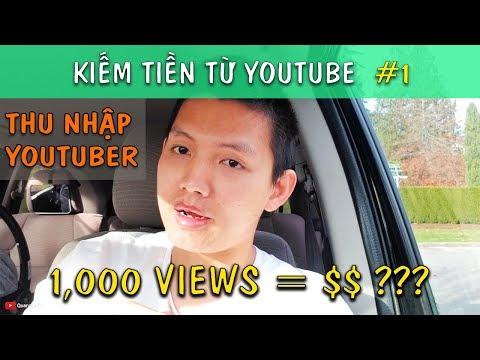 1000 VIEW ĐƯỢC BAO NHIÊU TIỀN. THU NHẬP YOUTUBER | Kiếm Tiền Youtube #1 | Quang Lê TV #159