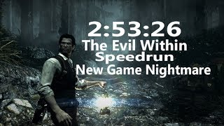 The Evil Within Speedrun NG Nightmare 2:53:26 World Record