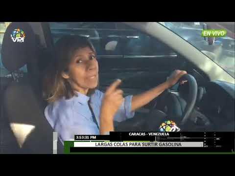 Venezuela - Continúan  largas colas en las estaciones de servicio en Caracas  - VPItv