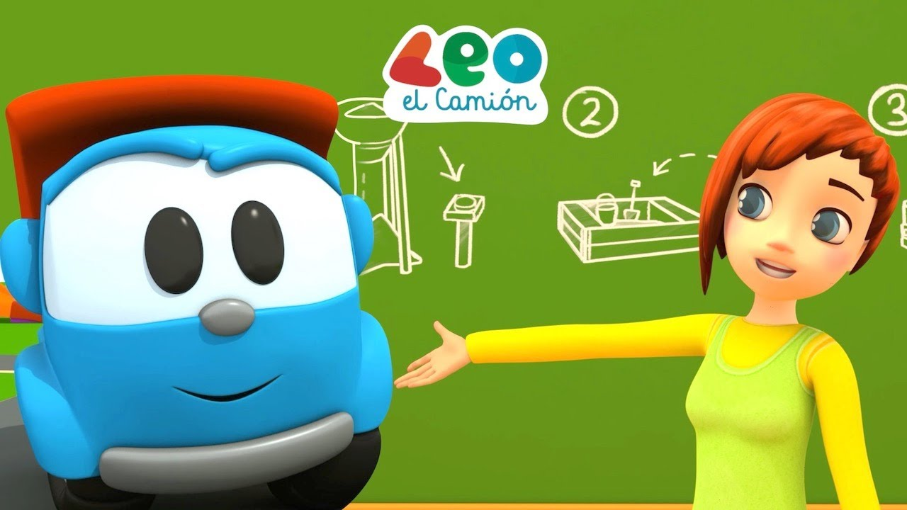 Leo el Camión y Maria aprenden los colores en español - Camiones de Construcción para Niños