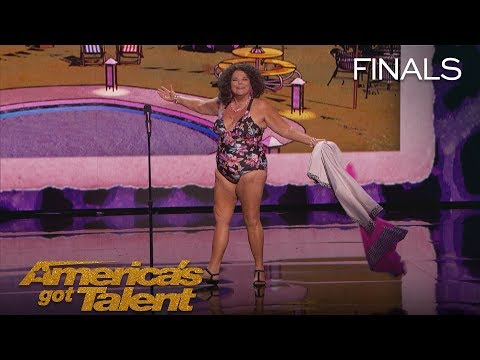 Vicki Barbolak: Comedian Transforms Finale Into Swimsuit Contest – America's Got Talent 2018