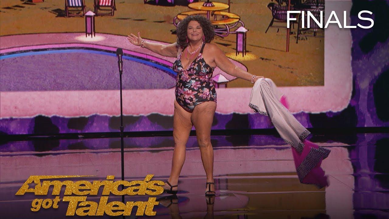 Vicki Barbolak: Comedian Transforms Finale Into Swimsuit Contest - America's Got Talent 2018