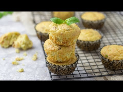 Bacon Cheese Muffins Recipe | Back To School Lunch Ideas