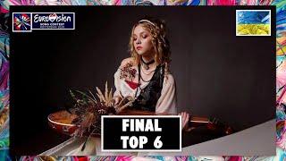 TOP 6 | VIDBIR 2020 - FINAL | EUROVISION SONG CONTEST 2020