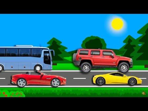 Учим виды транспорта. Мультик для детей про машинки. The cars for kids