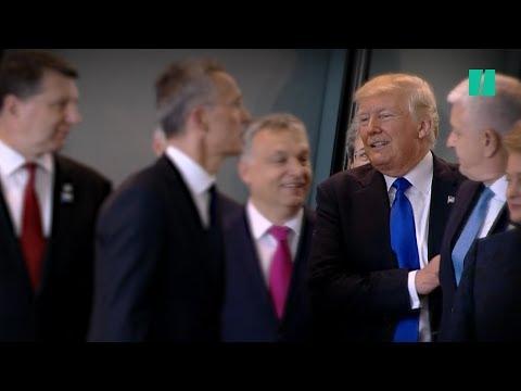 "Trump Puts ""America First,"" Shoves Montenegro Prime Minister"