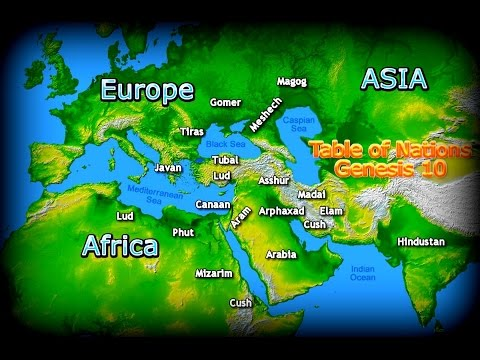 Origin of All the Present Countries | The Bible