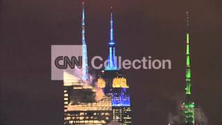 EMPIRE STATE BLDG LIGHTS UP FOR MARIO CUOMO