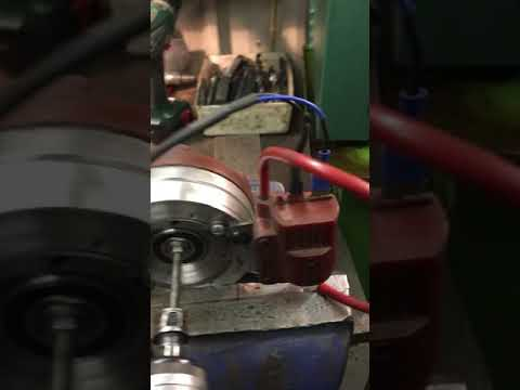 Motoplat internal rotor functionality test on home made test rig