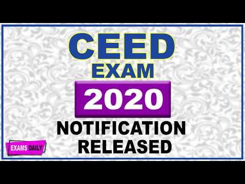 CEED Exam 2020 Notification Apply Online