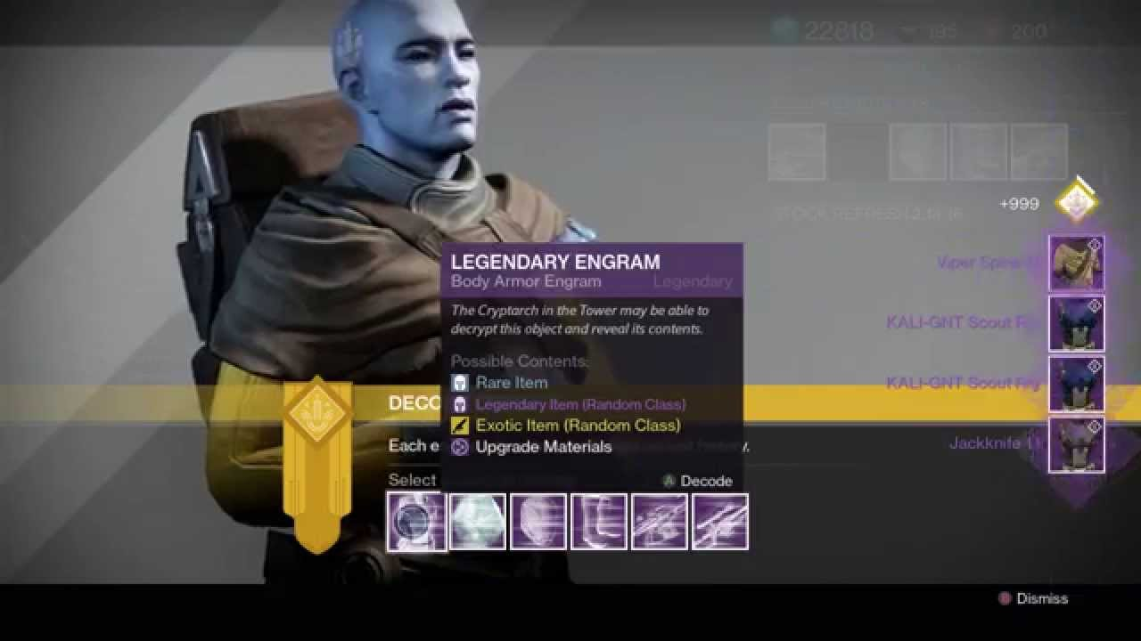 how to get legendary engrams in destiny 2