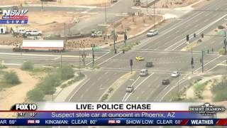 SHOCKING END: Police Chase Stolen Corvette In Phoenix, AZ (FNN)