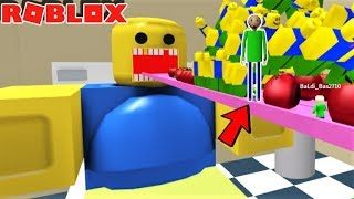 FEED THE GIANT NOOB!! feat Baldi and Fans | The Weird Side of Roblox