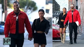 Karrueche Tran and Victor Cruz Dating! First Photos Together