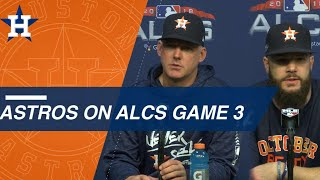 ALCS Gm3: Hinch and Keuchel on Red Sox lineup