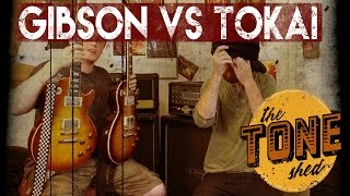 Repeat youtube video Gibson vs Tokai - BLINDFOLD CHALLENGE