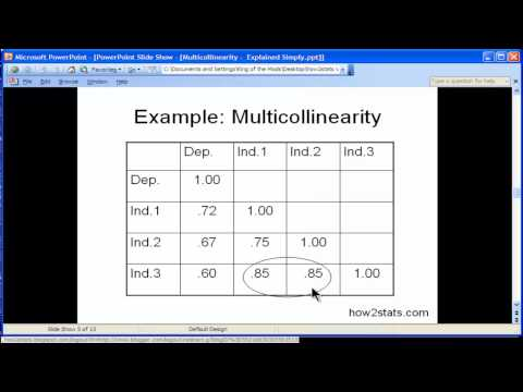 Multicollinearity - Explained Simply (part 1)