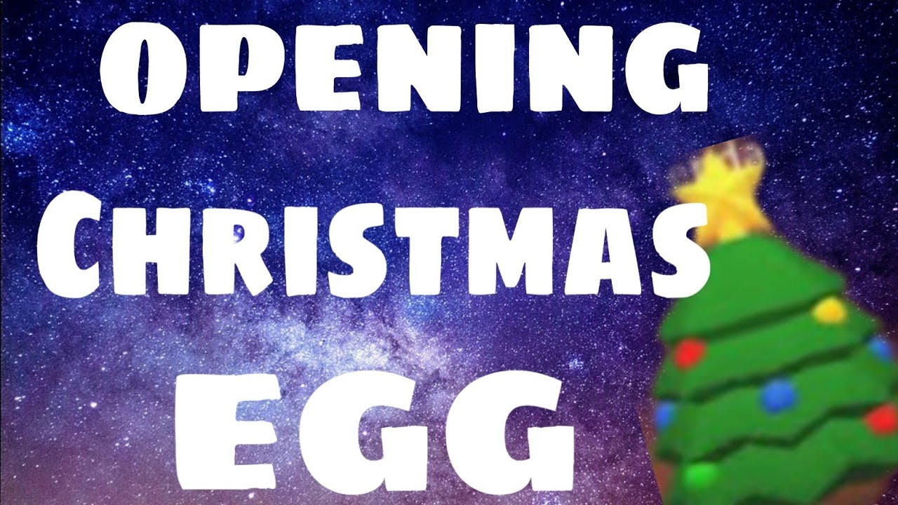 OPENING A CHRISTMAS EGG | ADOPT ME - YouTube