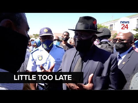 Mitchells Plain residents give Bheki Cele a frosty welcome: 'The government is five days late'